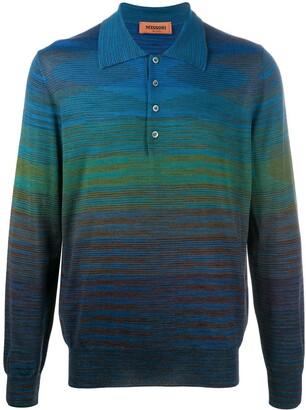 Missoni Gradient Effect Polo Shirt