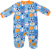 Cutie Pie Baby Blue & Orange Sports Footie - Infant