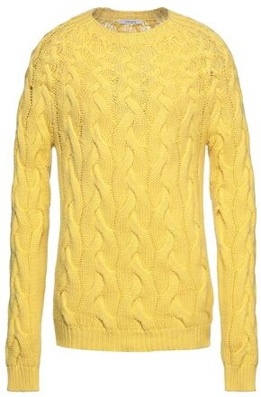 Mens Yellow Cable Knit Sweater Shop The World S Largest Collection Of Fashion Shopstyle Uk