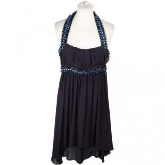 CNC Costume National Blue Silk Dresses