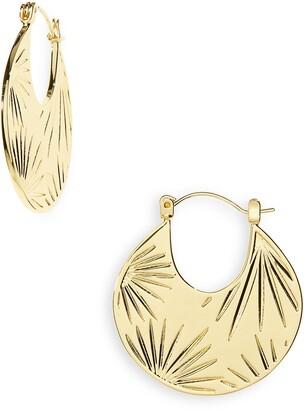Gorjana Azul Profile Hoop Earrings