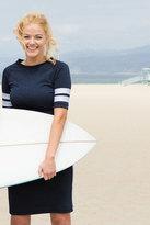 Shabby Apple Summerland Fitted Sheath Navy Dress