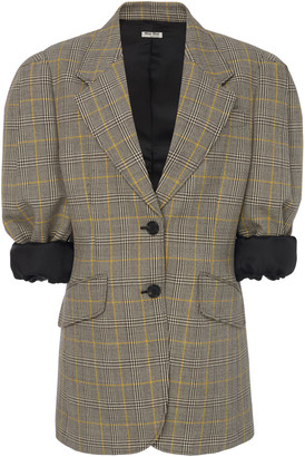 Miu Miu Checked Wool Blazer