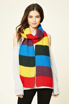 Forever 21 FOREVER 21+ Colorblock Ribbed Knit Scarf