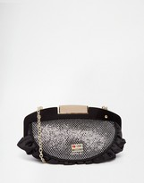 Love Moschino Clutch Bag With Chunky Chain Strap