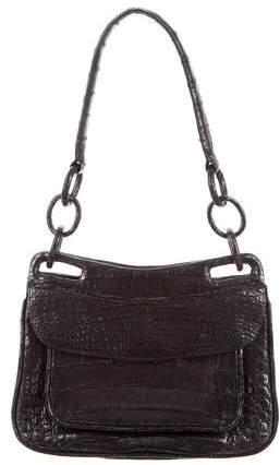 Nancy Gonzalez Merallic Crocodile Shoulder Bag