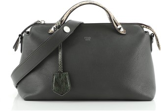 Fendi By The Way Satchel Leather with Python Small