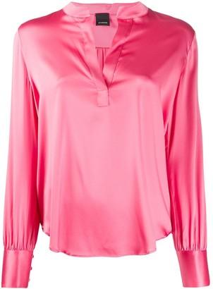 Pinko Split Neck Loose-Fit Shirt