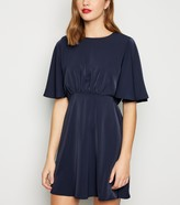 New Look AX Paris Flutter Sleeve Dress