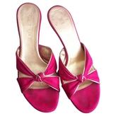 Celine Pink Leather Sandals