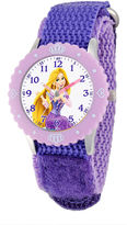 Disney Rapunzel Kids Purple Nylon Strap Watch