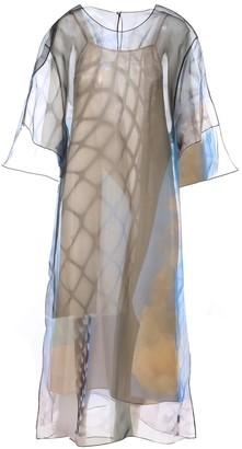 Maison Margiela Sheer Layered Midi Dress