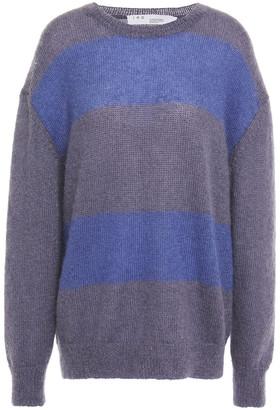 IRO Elkins Striped Mohair-blend Sweater