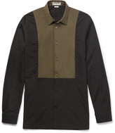 Balenciaga - Slim-fit Shell-panelled Cotton-poplin Shirt