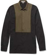 Balenciaga - Slim-fit Shell-panelled Cotton-poplin Shirt