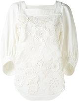 Chloé floral applique blouse