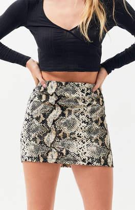 KENDALL + KYLIE Kendall & Kylie Python Mini Skirt