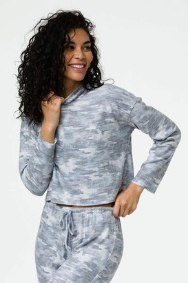 Onzie High Low Sweatshirt Cozy Camo - S/M