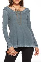 Chaser Scoop Back Long Sleeve Top
