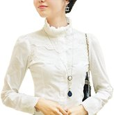 Nonbrand Office Long Sleeve Shirt Lace Top Womens Vintage Blouse Ladies Victorian Tops