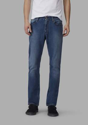 Giorgio Armani Regular-Fit Garment-Washed Resin Slub Japanese Denim Jeans
