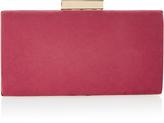 Monsoon Lyra Raspberry Microsuede Box Clutch Bag
