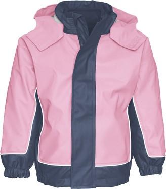 Playshoes Girl's Kids Waterproof with Removable Fleece Jacket Raincoat