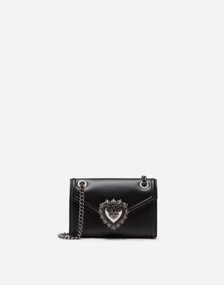 Dolce & Gabbana Devotion Mini Bag In Plain Calfskin