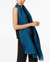 Eileen Fisher Organic Cotton Printed Fringe-Hem Scarf