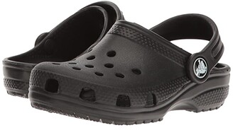 Crocs Classic Clog (Toddler/Little Kid/Big Kid) (Black) Kids Shoes