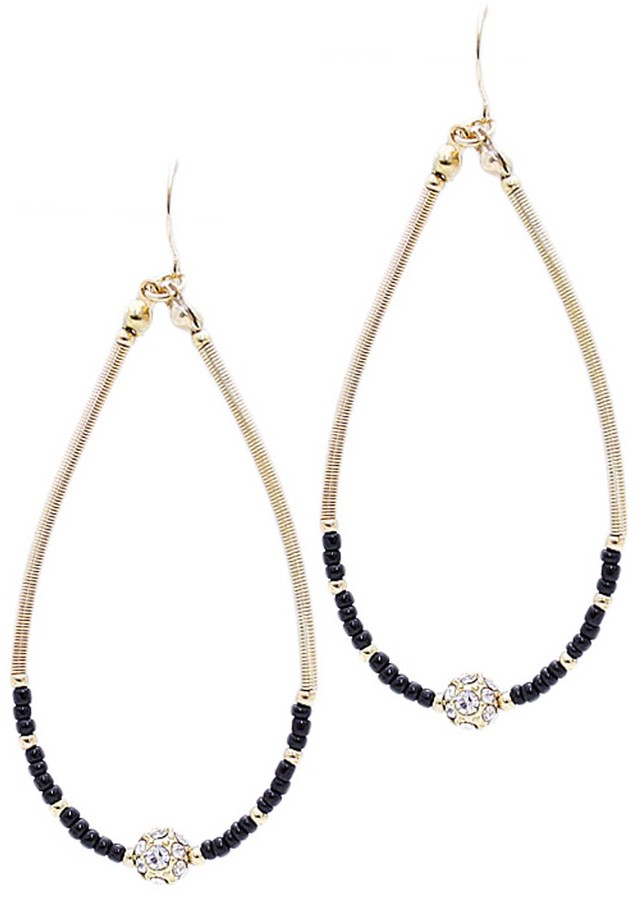 Style Tryst Bead and Rondelle Hoop Earrings