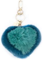 Twin-Set heart shape keyring - women - Rabbit Fur/metal - One Size