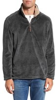 True Grit Men's Pebble Pile Quarter Zip Pullover