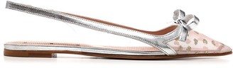 RED Valentino Slingback Pointed-Toe Flats