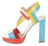Jerome C. Rousseau Colorblock Platform Sandals