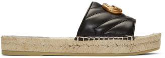 Gucci Black Charlotte Espadrille Sandals