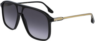Victoria Beckham Guilloche Acetate Oversize Navigator Sunglasses