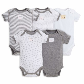 Burt's Bees Baby baby boys Bodysuits 5-pack Short & Long Sleeve One-pieces 100% Organic Cotton and Toddler T Shirt Set