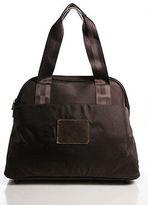 Diane von Furstenberg Brown Canvas Leather Trim Large Tote Handbag