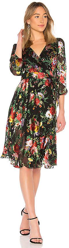 Alice + Olivia Abney Wrap Dress