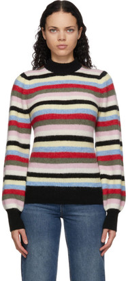 Ganni Multicolor Wool and Alpaca Striped Sweater