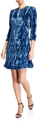 Shoshanna Rula Crushed Velvet Short Dress