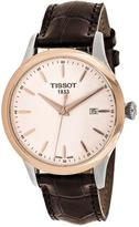 Tissot Classic T9124104601100 Men's Brown Leather and Stainless Steel Watch
