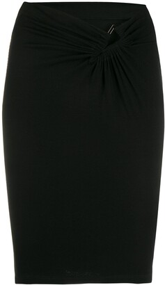 Unravel Project V-Waist Fitted Skirt