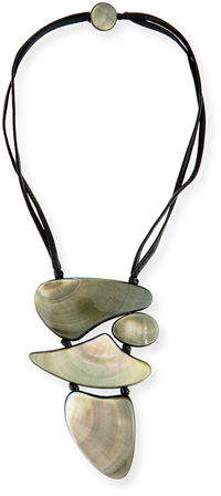 Viktoria Hayman Freeform Mother-of-Pearl Pendant Necklace
