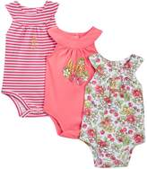 Juicy Couture Cherry Sleeveless Bodysuits - Pack of 3 (Baby Girls)
