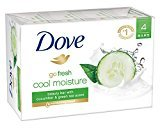 Dove go fresh Beauty Bar, Cucumber and Green Tea 4 oz, 4 Bar
