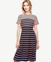 Ann Taylor Ombre Stripe Flare Dress
