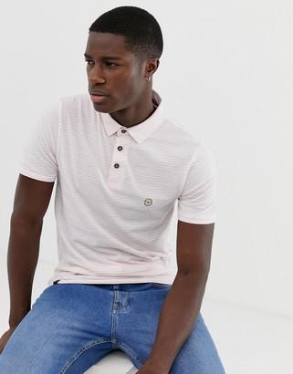 Le Breve button stripe polo shirt