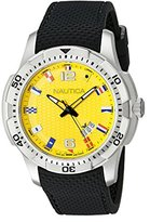 Nautica Men's NAD13516G NCS 16 Flag Analog Display Japanese Quartz Black Watch